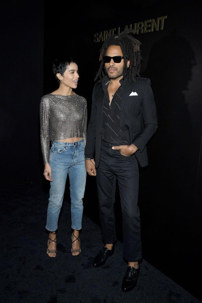Zoë Kravitz and Lenny Kravitz.
