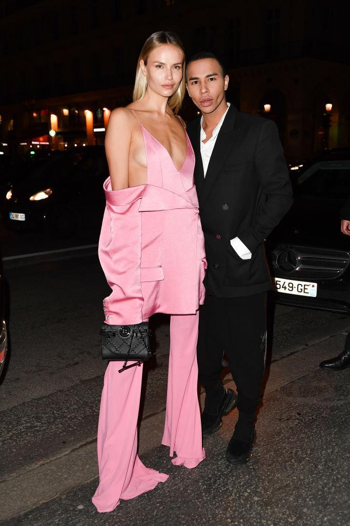Natasha Poly and Olivier Rousteing