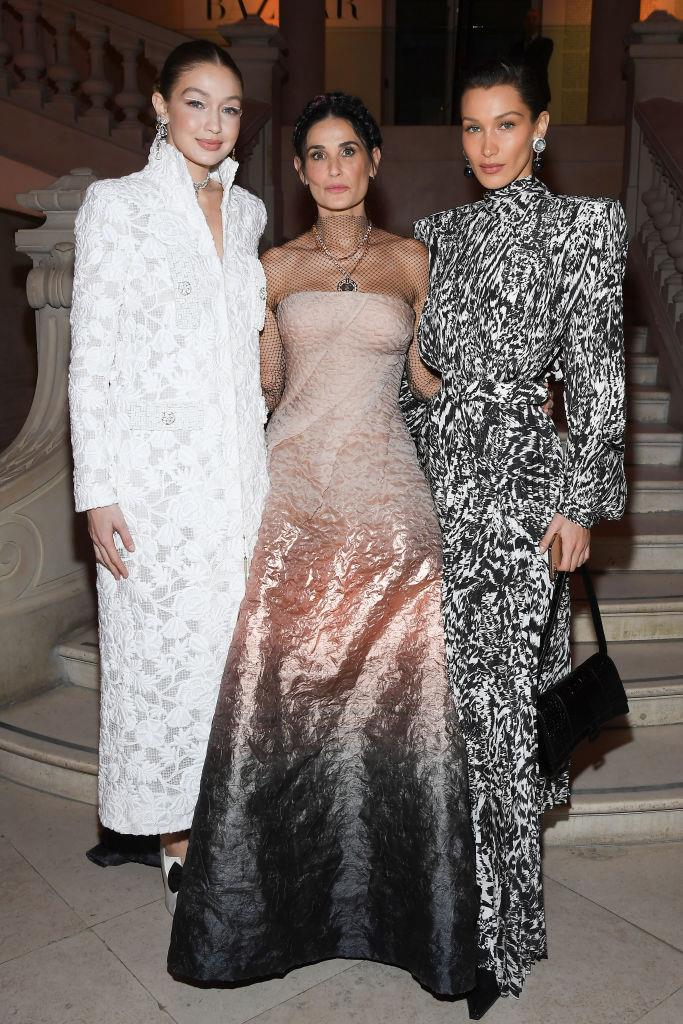 Gigi Hadid, Demi Moore and Bella Hadid