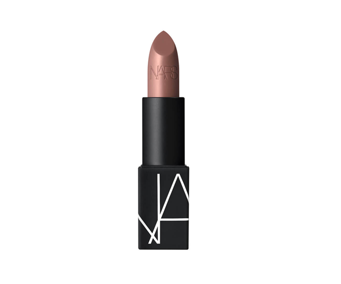 "**Lipstick in Rosecliffe by NARS, $42 at [MECCA](https://www.mecca.com.au/nars/lipstick/V-039553.html?cgpath=makeup-lips-lipstick|target=""_blank"")**"