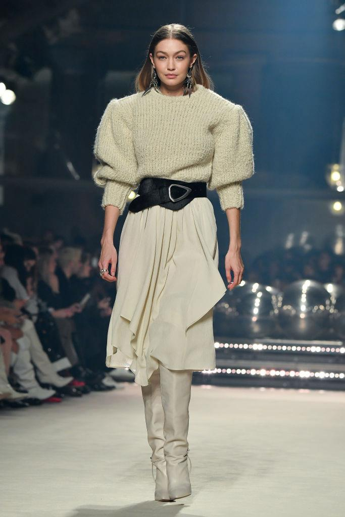 **Isabel Marant** <br><br> Isabel Marant's eternally wearable aesthetic continued this season, involving knits, coats and plenty of statement accessories for her cultish fanbase to stock up on. Naturally, the occasional slinky party dress was peppered in for good measure.