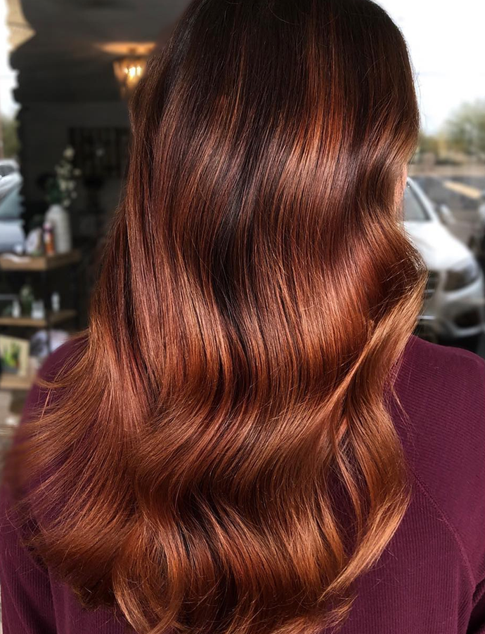 It's not reserved for block colours either; garnet is beautiful over balayage. <br><br/> *Instagram/@coloredbyliz*