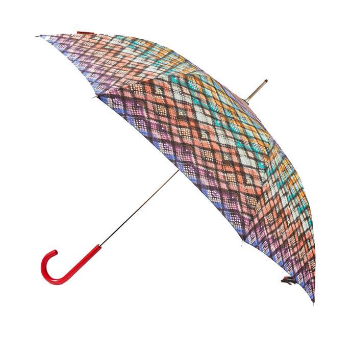 "Des Gaia printed shell umbrella by Missoni, $172.60 at [NET-A-PORTER](https://www.net-a-porter.com/au/en/product/1227667|target=""_blank""|rel=""nofollow"")."