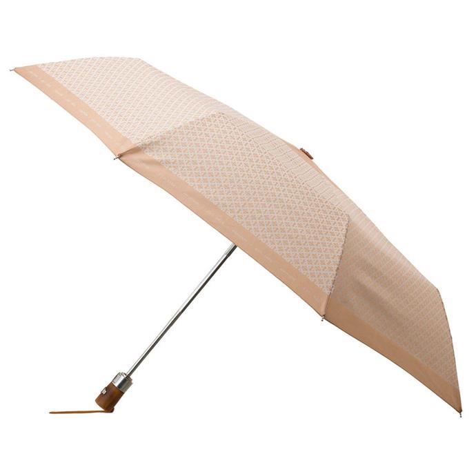 "Logo small umbrella by Oroton (available in multiple colours), $69.95 at [Oroton](https://oroton.com/logo-small-umbrella-sand-cream-osfa|target=""_blank""|rel=""nofollow"")."