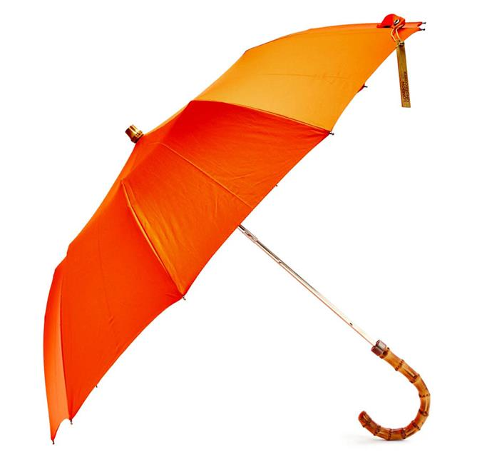 """Whangee-handle telescopic umbrella by London Underover, $99 at [MATCHESFASHION.COM](https://www.matchesfashion.com/au/products/London-Undercover-Whangee-handle-telescopic-umbrella--1237880