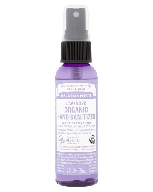 "Dr. Bronner's Lavender Organic Hand Sanitizer, $8.95 at [Dr. Bronner](https://www.drbronner.com.au/products/lavender-organic-hand-sanitizer|target=""_blank""