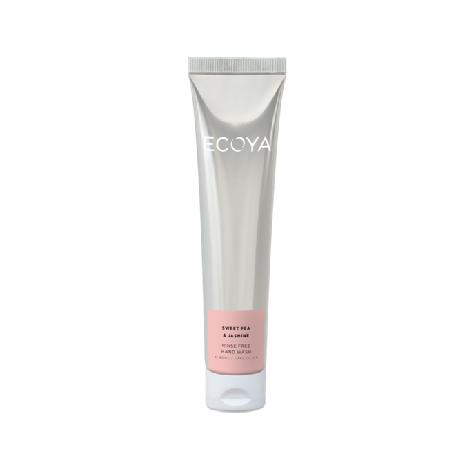 "ECOYA Sweet Pea & Jasmine Rinse Free Hand Wash, $9.95 at [ECOYA](https://www.ecoya.com.au/collections/bodycare/products/rinse-free-hand-wash-sweet-pea-jasmine|target=""_blank""