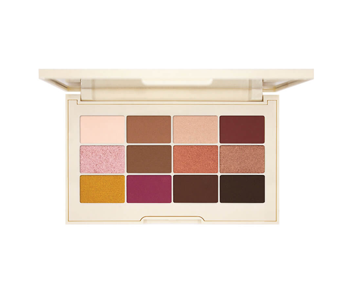 "**Rose Gold Matte & Shimmer Eyeshadow Palette by Jouer, $64 at [MECCA](https://www.mecca.com.au/jouer/rose-gold-matte-shimmer-eyeshadow-palette/I-041260.html?cgpath=makeup-eyes-eyepalettessets|target=""_blank"")**<br> The very palette that persuaded us to try mustard shadow."