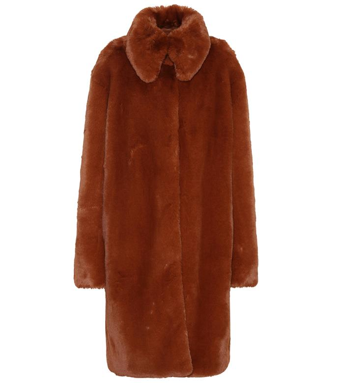 """**Faux-fur coat by Rokh, $1,109 at [Mytheresa](https://fave.co/2TD077V