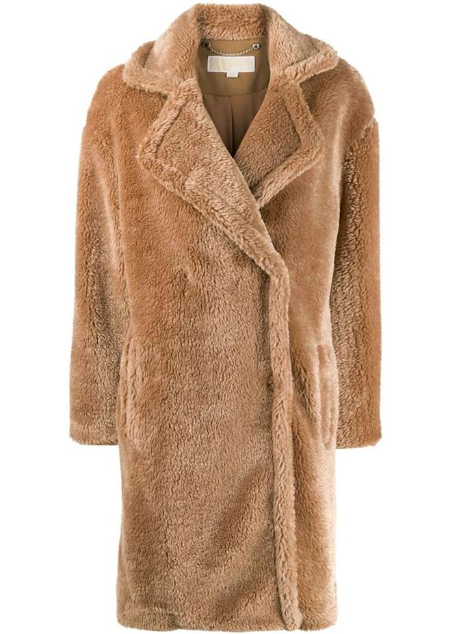 """**Oversized faux-fur coat by Michael Michael Kors, $517 at [Farfetch](https://fave.co/2vH3YaR