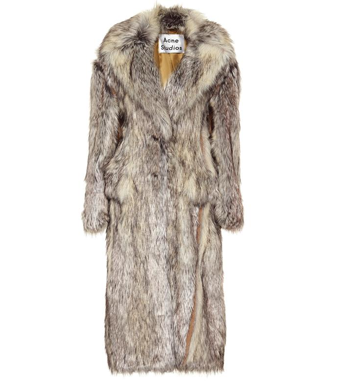 """**Faux-fur coat by Acne Studios, $3,220 at [Mytheresa](https://fave.co/3cNeEoK