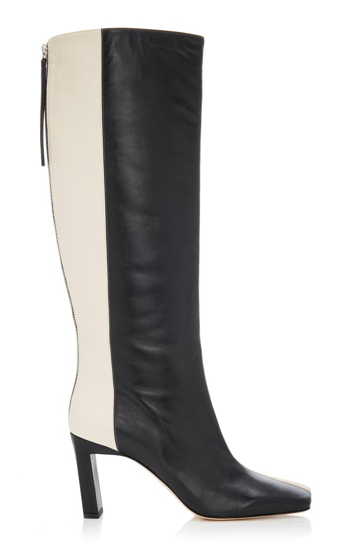 "**'Isa' two-tone leather knee boots by Wandler, $925 at [Moda Operandi](https://www.modaoperandi.com/wandler-r20/isa-two-tone-leather-knee-boots|target=""_blank""