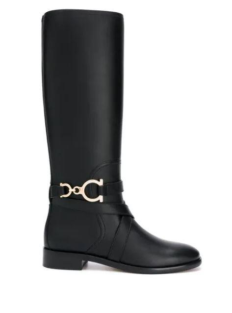 "**'Gancini' knee-high boots by Salvatore Ferragamo, $2,190 at [Farfetch](https://www.farfetch.com/au/shopping/women/salvatore-ferragamo-gancini-knee-high-boots-item-14769959.aspx?storeid=9462|target=""_blank""