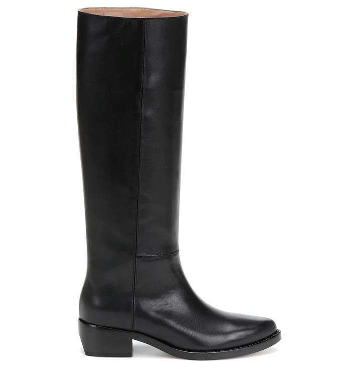 "**Knee-high leather riding boots by Legres, $1,185 at [MyTheresa](https://www.mytheresa.com/en-au/legres-knee-high-leather-riding-boots-1331103.html|target=""_blank""