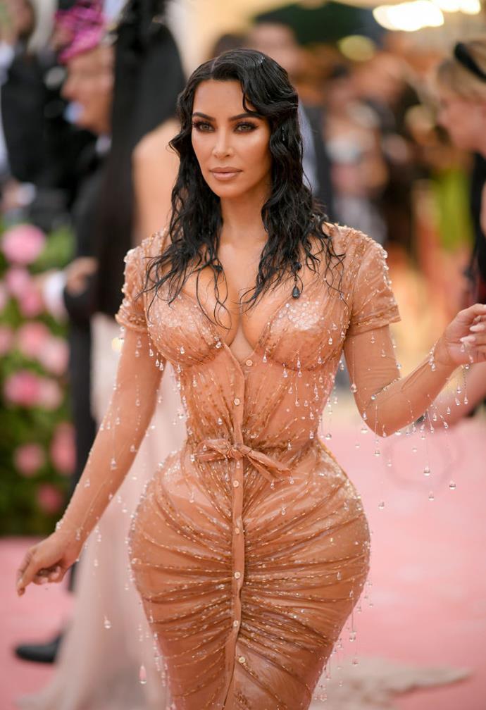 Kim Kardashian West at the 2019 Met Gala.