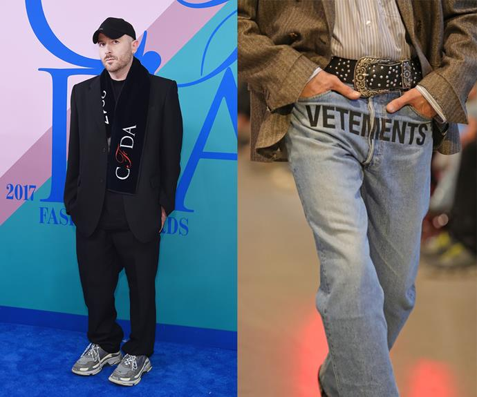 **Demna Gvasalia (Vetements, Balenciaga)** <br><br> As much as Georgian designer Demna Gvasalia is known for his genre-defying work at Balenciaga, he started off at his own label, Vetements, where the logo-print jeans and cigarette lighter-heel boots became the kind of overnight successes that new designers dream about. <br><br> At Balenciaga, Gvasalia's designs played heavily into the street-style craze (i.e. the iconic chunky 'Triple S' sneakers), and ushered in a new, cool era for the famed couturier. Naturally, he's been one of the major trendmakers of the past five years.