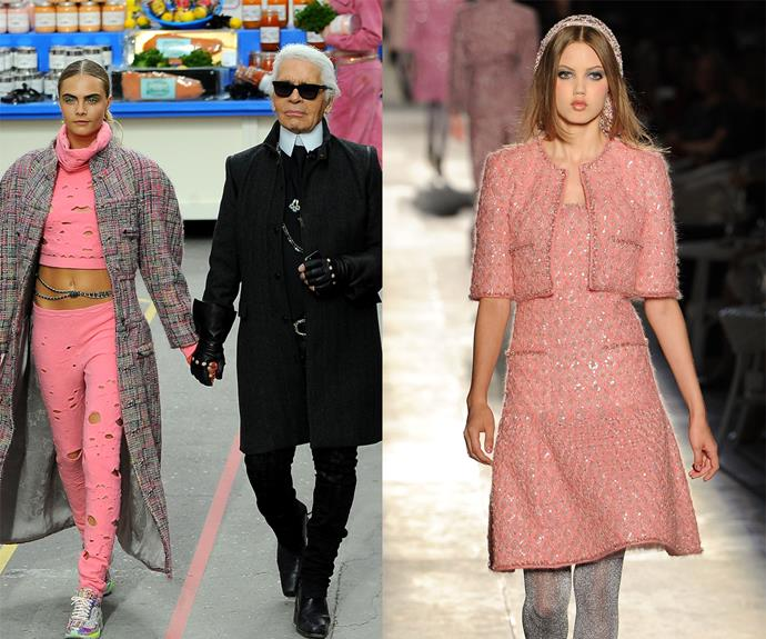 **Karl Lagerfeld (Chanel, Fendi)** <br><br> Lagerfeld changed French fashion for good when he helped transform Coco Chanel's maison into one of the world's most powerful brands. His clothes were timeless while staying ahead of the curve, and he turned Chanel's famous tweed coat (pictured) into an influencer and editor must-have. <br><br> Though the legendary designer passed away in February 2019 and was replaced at Chanel by his protégé, Virginie Viard, his embodiment of timeless French style has influenced an entire generation of designers and fashion collectors old and new.