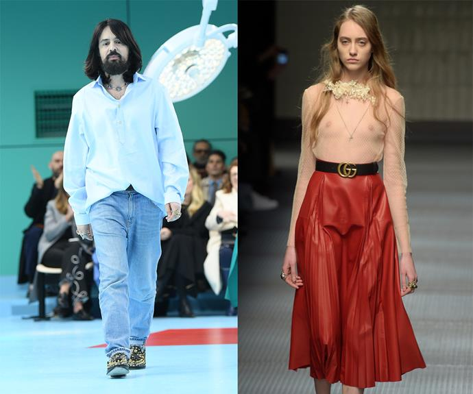 """**Alessandro Michele (Gucci)** <br><br> The fashion world hasn't been the same since Alessandro Michele scored Gucci's creative director role in 2015, where he's since injected his whimsical, camp, and splendidly Italian aesthetic into the age-old house. <br><br> True to form for a modern designer, Michele has also played a role in the blurring of gender lines on runways—showing mens' and womens' clothes in the same fashion shows, and imploring unisex dressing. It's little surprise that Gucci has ascended to become one of the [world's most valuable brands](https://www.forbes.com/companies/gucci/#34e76147317e