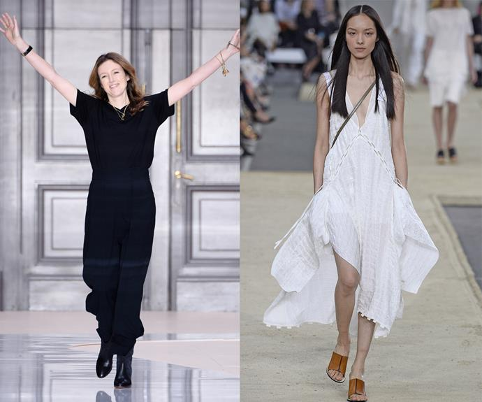 """**Clare Waight Keller (Chloé, Givenchy)** <br><br> Though Waight Keller now heads up Givenchy (and famously designed [Meghan Markle's 2018 wedding dress](https://www.harpersbazaar.com.au/fashion/meghan-markle-wedding-dress-fit-16564