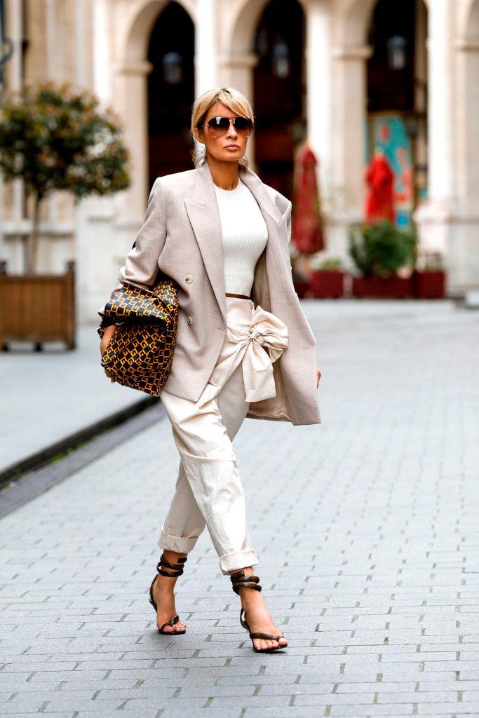 On stylist and influencer Gitta Banko at Paris Fashion Week autumn/winter '20/'21.