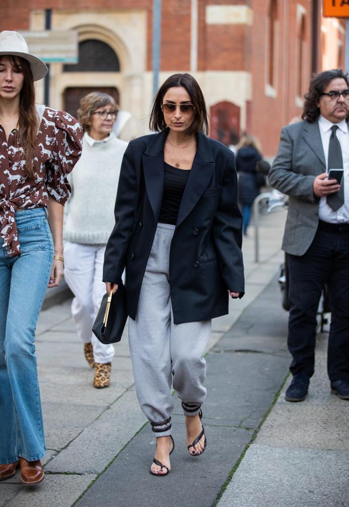 On stylist and influencer Geraldine Boublil at Milan Fashion Week autumn/winter '20/'21.