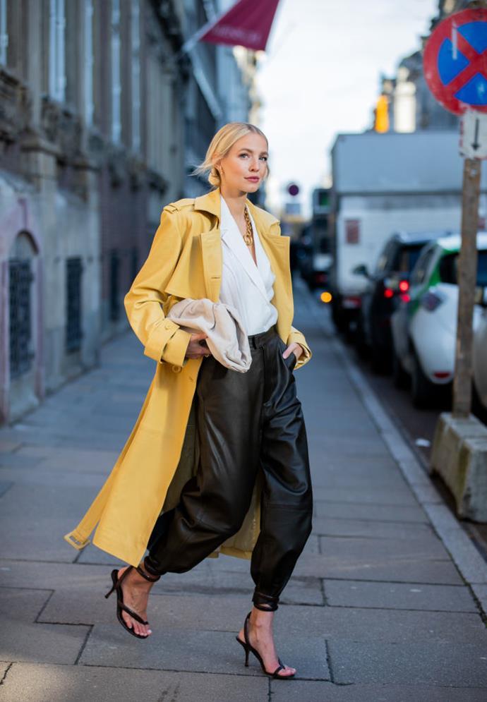 On stylist and influencer Leonie Hanne at Copenhagen Fashion Week autumn/winter '20/'21.