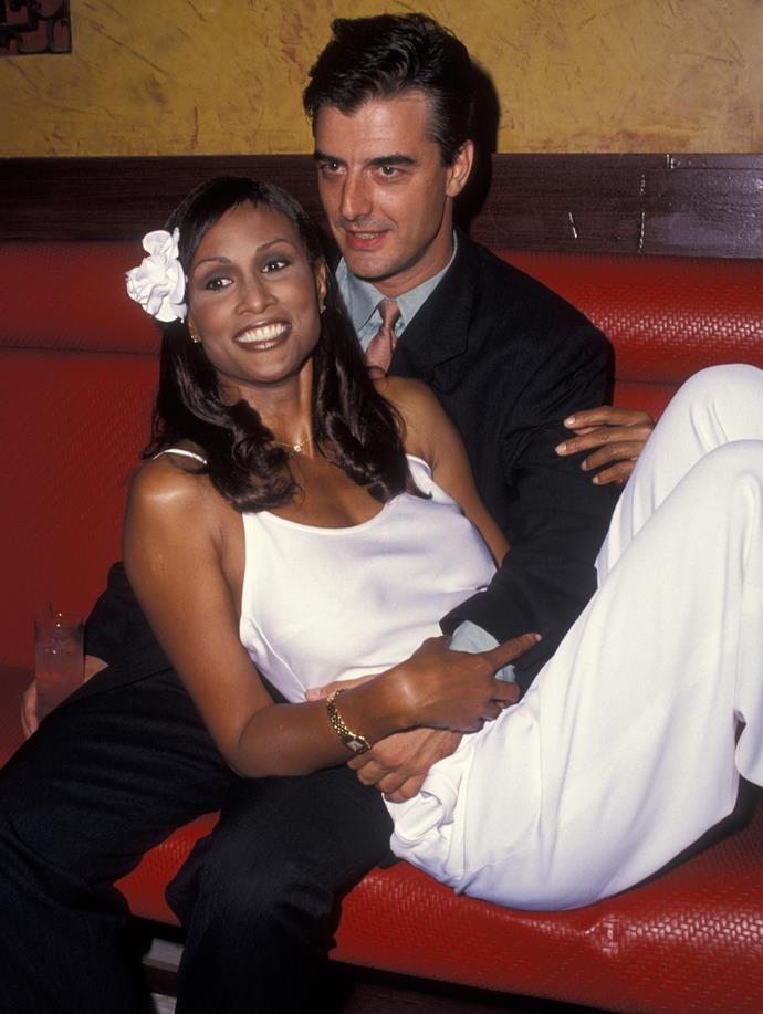 **Beverly Johnson and Chris Noth** <br><br> In another unexpected case of '*Sex and the City* cast member dates famous supermodel', Chris Noth (AKA 'Mr Big') dated '70s and '80s supermodel Beverly Johnson in the mid-to-late-1990s. There's little concrete information about the relationship online, but there *are* plenty of pictures of the couple at multiple different nightclubs and society events.