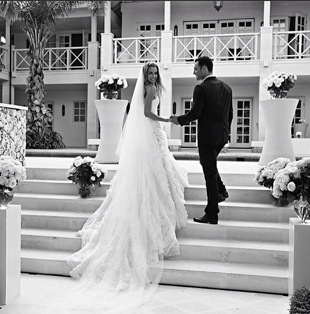 "**Jennifer Hawkins**<br><br>  Jennifer Hawkins wearing a strapless gown co-designed with Toni Maticevski for her Bali wedding to Jake Wall in June 2013.<br><br>  *Image via [@jenhawkins_](https://www.instagram.com/jenhawkins_/|target=""_blank""