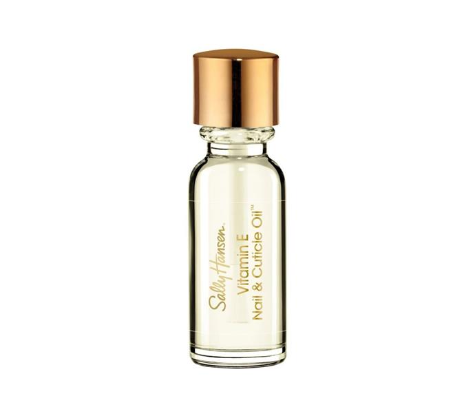 """**Sally Hansen Vitamin E & Cuticle Oil, $17.95, [Priceline](https://www.priceline.com.au/sally-hansen-vitamin-e-moisturising-nail-cuticle-oil-13-3-ml target=""""_blank"""" rel=""""nofollow"""")**  Packed full of hydrating ingredients, and completely fragrance-free, this formula is a no-brainer."""