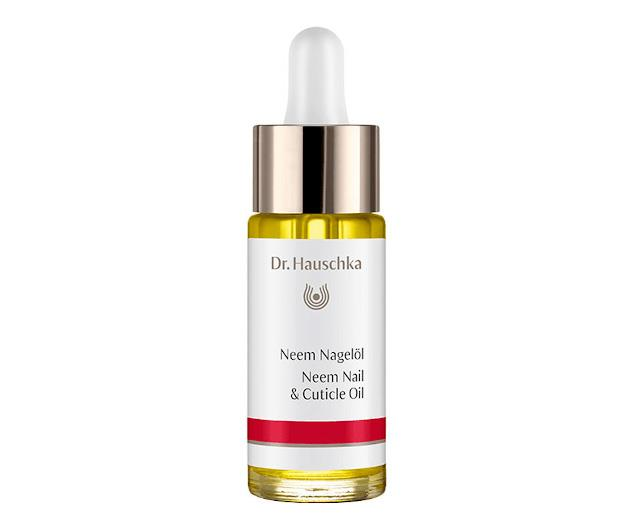 """**Dr Hauschka Neem Nail & Cuticle Oil, $58, [Adore Beauty](https://www.adorebeauty.com.au/dr-hauschka/dr-hauschka-neem-nail-oil-30ml.html target=""""_blank"""" rel=""""nofollow"""")**  Neem leaf is the hero ingredient in this bottle of gold. Known for its healing properties, it's an excellent choice if you're prone to fungal infection."""