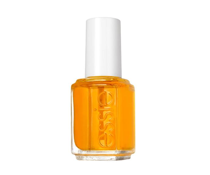 """**Essie Apricot Cuticle Oil, $16.95, [Adore Beauty](https://www.adorebeauty.com.au/essie/essie-nail-care-apricot-cuticle-oil.html target=""""_blank"""" rel=""""nofollow"""")**  If a sensorial experience is what you're after, this one wins for scent."""