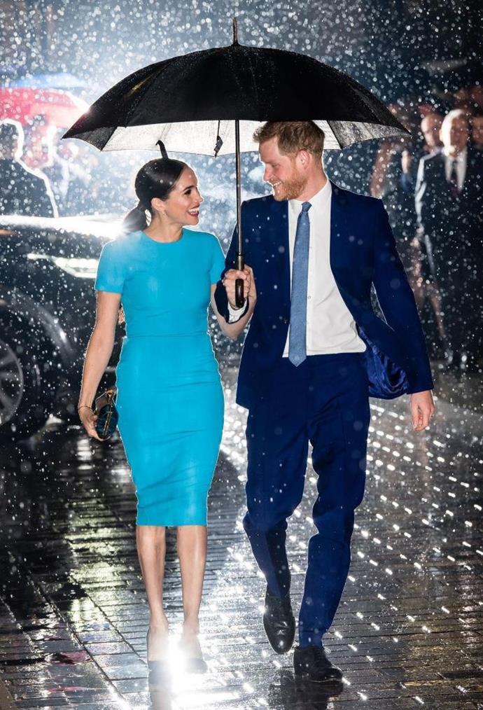 "**Meghan Markle's blue Victoria Beckham dress**<br><br>  There are 'revenge dresses' and then there are ['renaissance dresses'](https://www.harpersbazaar.com.au/fashion/renaissance-dresses-20032|target=""_blank""), and [Meghan Markle's blue Victoria Beckham](https://www.harpersbazaar.com.au/fashion/meghan-markle-blue-dress-20015