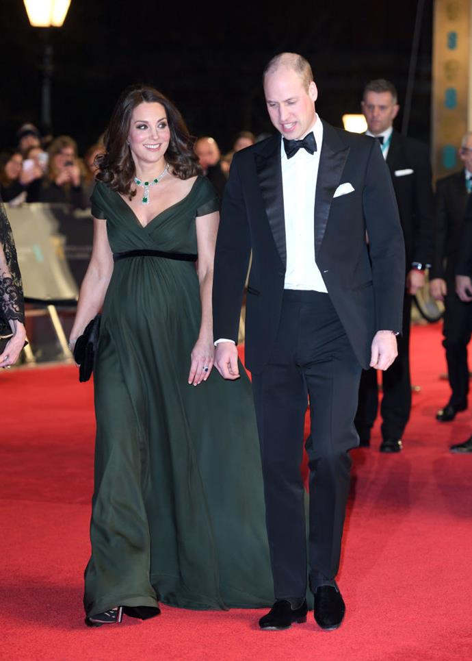 "**Kate Middleton's green Jenny Packham gown at the 2018 BAFTA Awards**<br><br>  In 2018, most award show fashion rather literally faded to black, with many celebrities choosing to wear noir in solidarity with the Time's Up movement. However, the [Duchess of Cambridge stood out immediately at the BAFTA Awards](https://www.harpersbazaar.com.au/celebrity/kate-middleton-baftas-green-dress-meaning-15797|target=""_blank"") for her dark emerald green gown by Jenny Packham, leaving both the fashion set and royal fans wondering why she went against the grain.<br><br>  Incidentally, the dress likely spoke more of protocol than politics, with the royal family encouraged to remain bipartisan at all times (they don't even vote, to make sure they don't influence the public).<br><br>  Despite not being black, however, some commentators believed her gown may have still been in line with the intention of the movement. Several people noted that the colour of her gown could have potentially been a nod to the Suffragettes, who wore green to represent hope."