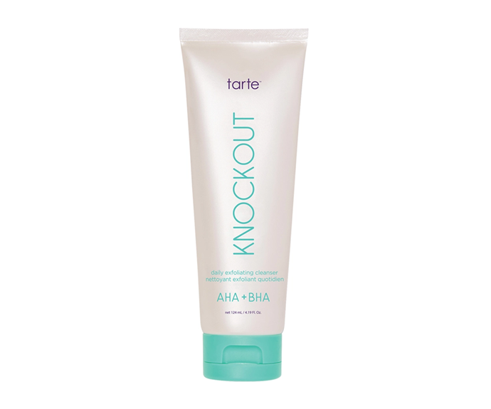 """**Knockout Daily Exfoliating Cleanser by Tarte, $41 at [Sephora](https://www.sephora.com.au/products/tarte-knockout-daily-exfoliating-cleanser/v/124ml