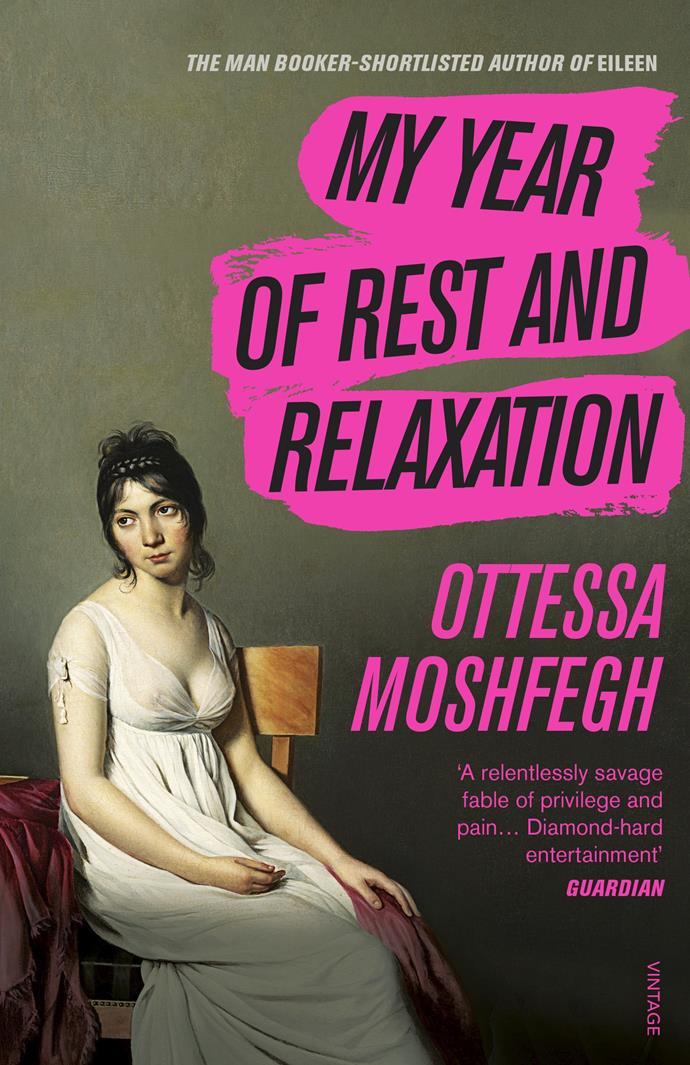 "***My Year Of Rest And Relaxation* by Ottessa Moshfegh** <br><br> Looking to read about a different kind of isolation? *My Year Of Rest And Relaxation* follows the year of an unnamed protagonist as she persists in her attempt to sleep for an entire year. If you need any more convincing, Whoopi Goldberg has ""read the book and loved it."" <br><br> *My Year Of Rest And Relaxation*, $15.40 at [Book Depository.](https://www.bookdepository.com/My-Year-of-Rest-and-Relaxation-Ottessa-Moshfegh/9781784707422?redirected=true&selectCurrency=AUD&w=AF45AU968MV5MYA8VCC5&pdg=pla-293946777986:cmp-6919946397:adg-82581721111:crv-389775188388:pos-:dev-c&gclid=CjwKCAjwsMzzBRACEiwAx4lLGx42cZKqecj9IOYrnF6-Zbrc2VcLHCAfV6Nul_aeA5uFqdas55D-nxoC-gAQAvD_BwE