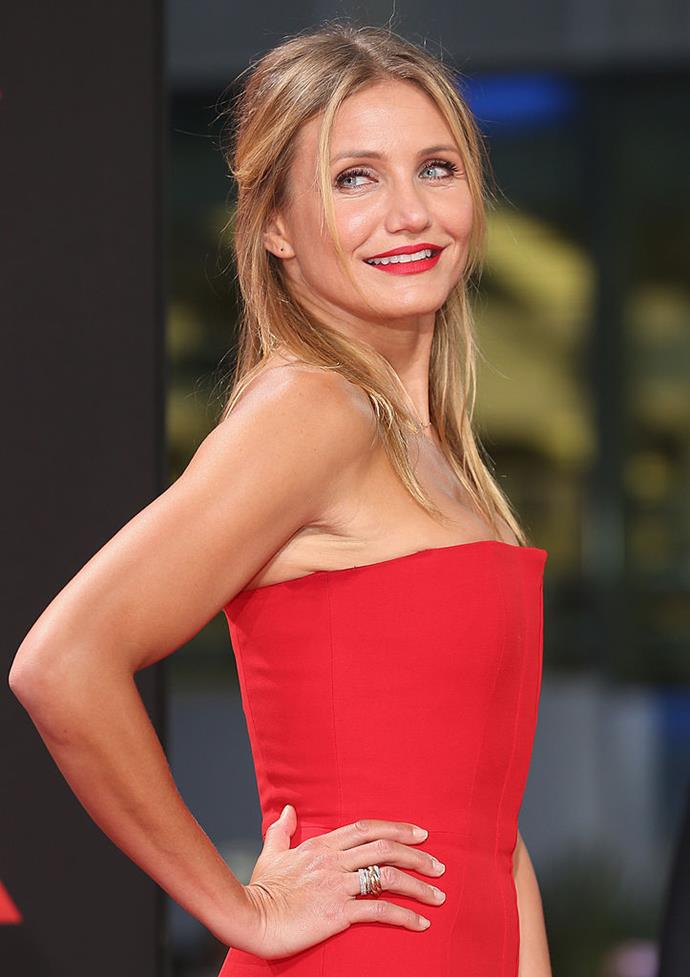 """**Cameron Diaz** <br><br> She may now be married to Benji Madden, but Cameron Diaz was never disposed to the idea of marriage, telling *Maxim* in 2011: """"I think we have to make our own rules. I don't think we should live our lives in relationships based off of old traditions that don't suit our world any longer."""" <br><br> When Gwyneth Paltrow quizzed Diaz about her change of mind at a *Goop* conference in 2019, the *The Holiday* star said: """"I think it was just a matter of I hadn't met my husband yet, you know? I had boyfriends before. And there's a really, really distinct difference between husbands and boyfriends."""""""
