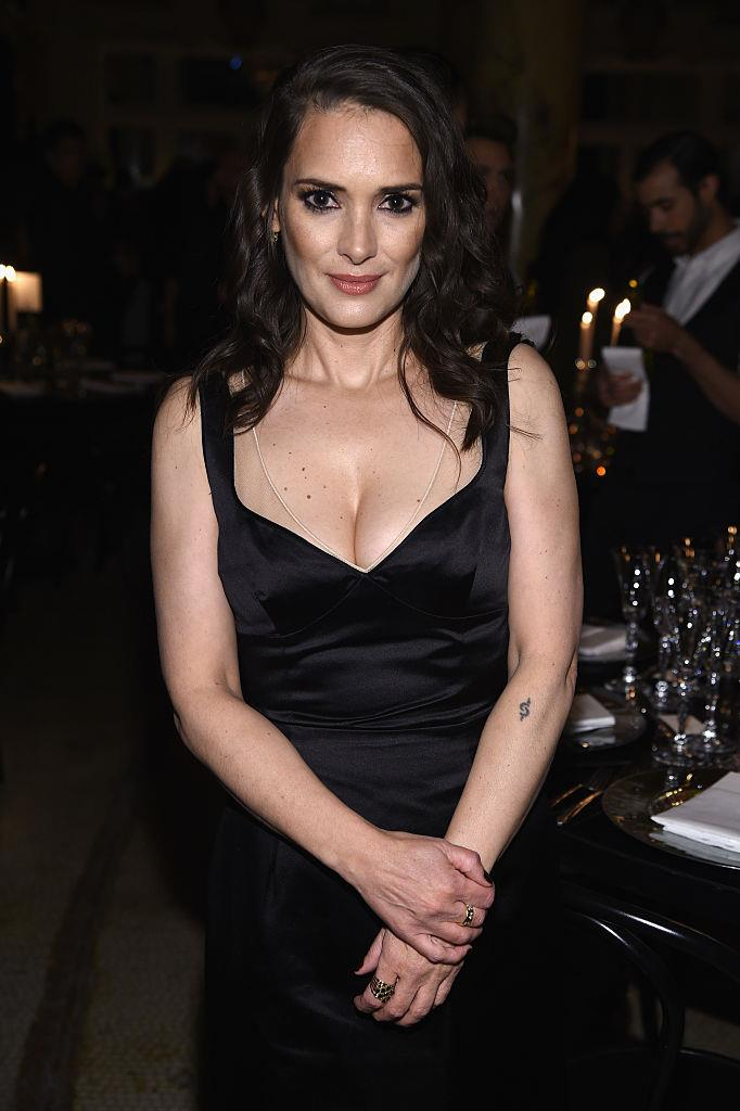 """**Winona Ryder** <br><br> '90s icon Winona Ryder, who now stars in Netflix's *Stranger Things*, has reportedly been in an eight-year relationship with her partner, Scott MacKinlay Hahn, and is very happy to avoid adding marriage into the mix. <br><br> In a 2016 interview with *[Porter](https://www.net-a-porter.com/gb/en/porter/article-dc068eb64659c95d