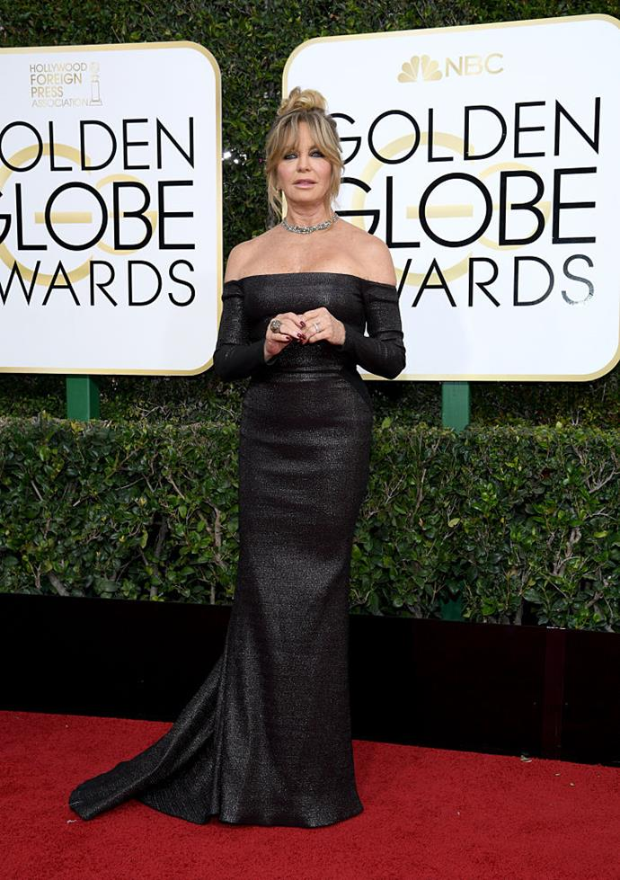 """**Goldie Hawn** <br><br> Oscar-winning actress Goldie Hawn is renowned for her famously sunny outlook on life, and has been in a relationship with her actor partner, Kurt Russell, for over 36 years. <br><br> In a 2016 appearance on the British talk show *Loose Women*, Hawn explained that avoiding marriage was actually the secret to her enduring relationship with Russell (she was already married twice before meeting him). In her words: """"I would have been long-divorced if I ever married [Kurt]."""""""