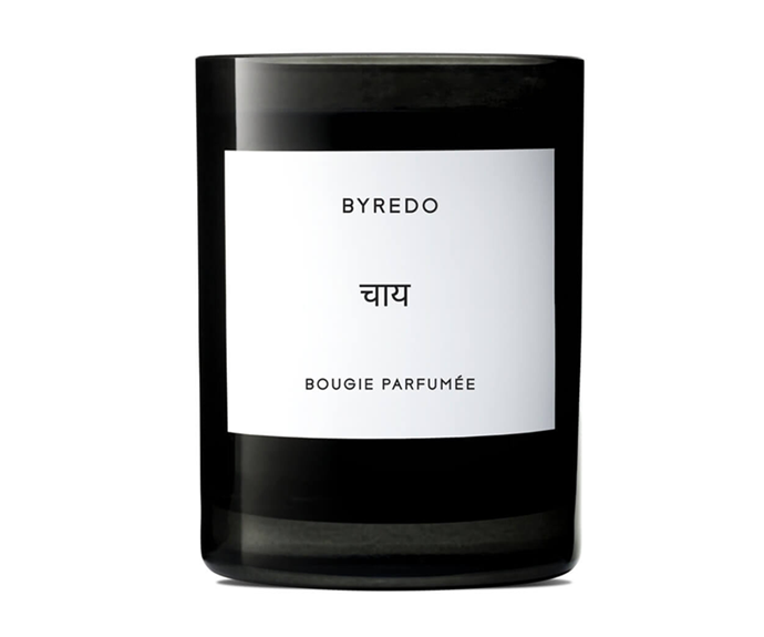 """**Chai Candle by Byredo, $110 at [MECCA](https://www.mecca.com.au/byredo/chai-candle/I-034588.html?cgpath=fragrance-home-candles target=""""_blank"""")**<br></br> This ginger, violet and cardamom candle is laced with latte notes to warm your senses the same way a steaming hot chai would."""