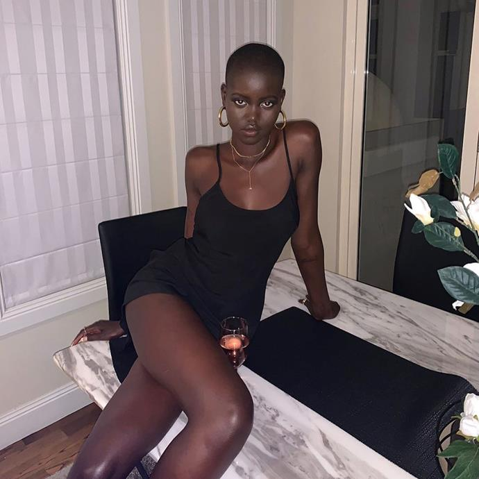 """**7. Adut Akech** <br><br> The phrase 'supermodel-in-the-making' is grossly overused in this industry—but term unequivocally applies to Adut Akech, the South Australian model who, at 20, counts Naomi Campbell as a mentor and Valentino, Chanel, Versace and Prada as clients. It's no surprise her following has amassed to 890k after not even three years in the industry, and is climbing every day.  <br><br> Follow: [@adutakech](https://www.instagram.com/adutakech/