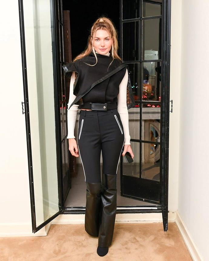 """**16. Jessica Hart** <br><br> Self-proclaimed tomboy Jess Hart keeps her 241,000 followers entertained with a steady flow of OOTD posts, fashion editorials, and promos for her beauty label, Luma Beauty. <br><br> Follow: [@jesshart](https://www.instagram.com/jesshart/