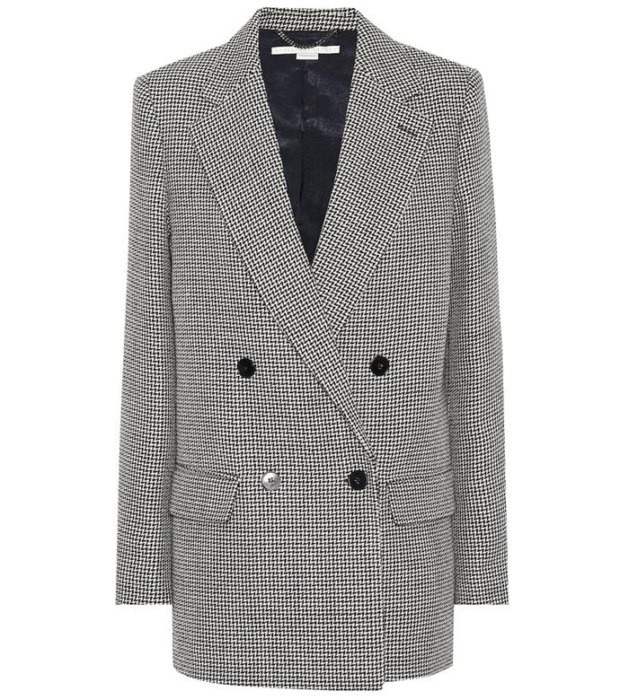 "**The houndstooth-check garb** <br><br> Stella McCartney scores *many* points for her brand's signature emphasis on [sustainability](https://www.harpersbazaar.com.au/fashion/how-to-make-wardrobe-more-sustainable-19779|target=""_blank""), and we'll always fawn over the designer's chic, effortless British cool-girl tailoring. <br><br> *Double-breasted houndstooth wool blazer by Stella McCartney, $1,431 at [Mytheresa](https://fave.co/2QUmDqW