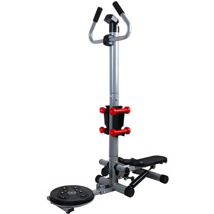 """**3 in 1 Health and Fitness Twist Stepper with Handle Bar, Twister & Dumbbells, $219 at [Dshop](https://fave.co/2QVI9LZ