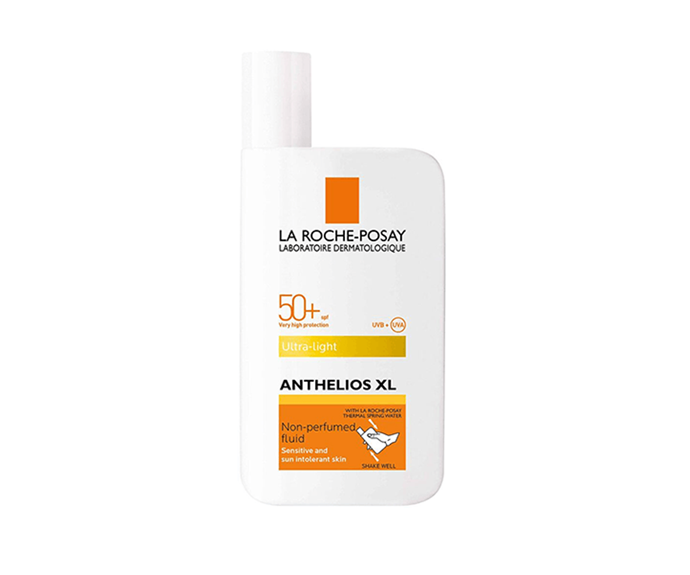 """**Anthelios XL Ultra-Light Fluid Facial Sunscreen SPF 50+ by La Roche-Posay, $29.95 at [Adore Beauty](https://www.adorebeauty.com.au/la-roche-posay/la-roche-posay-anthelios-xl-fluid-extreme-spf-50.html?istCompanyId=6e5a22db-9648-4be9-b321-72cfbea93443&istFeedId=686e45b5-4634-450f-baaf-c93acecca972&istItemId=witqxmqqq&istBid=tztx&gclid=Cj0KCQjwjoH0BRD6ARIsAEWO9DuDD1ZNY7GeENe_f-y05uebT2_YT-pxMHq65gstccG1KpNJt1o11o8aAnWAEALw_wcB