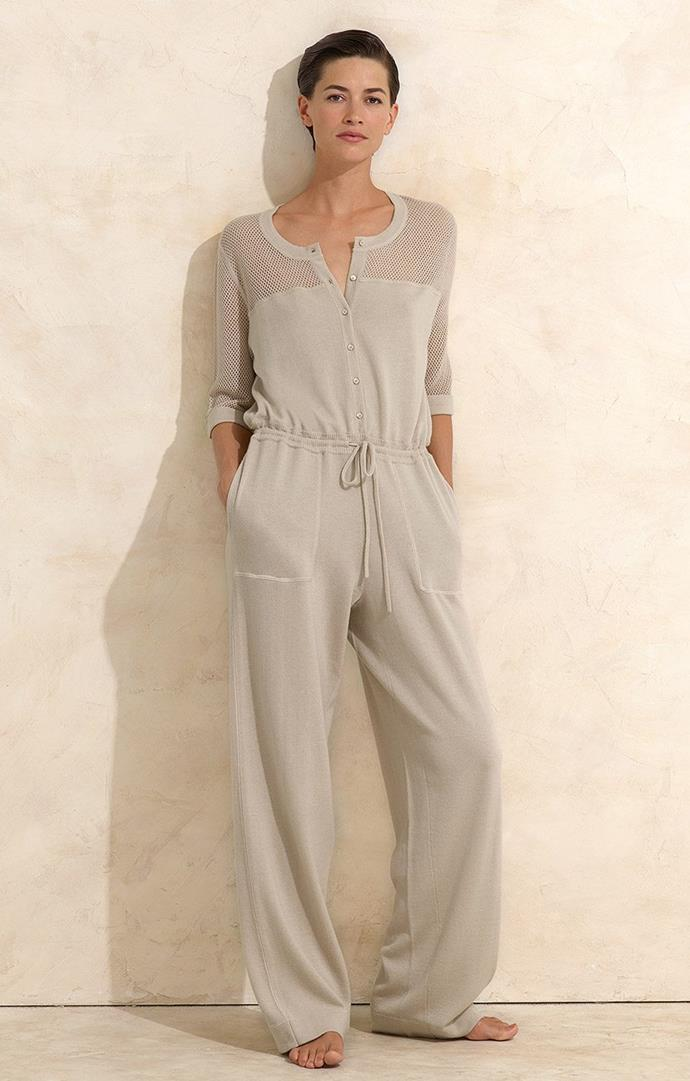 "'Therapy' nightshirt jumpsuit, approximately $1,605.46 at [Eres](https://www.eresparis.com/eu/en/lingerie/homewear/812011.html?dwvar_812011_color=00895|target=""_blank""
