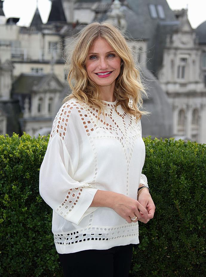 """**Cameron Diaz** <br><br> Once-present on social media, Diaz shared her candid thoughts on the Internet in a 2015 interview with [*Cosmopolitan* U.K.](http://www.cosmopolitan.co.uk/entertainment/interviews/a33805/cameron-diaz-cover/