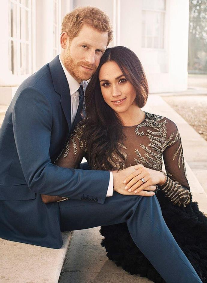"**December 2017: Meghan Markle and Prince Harry release their engagement portraits**<br><br>  It was a  moment that made royal fans around the world collectively gasp: the reveal of [Meghan and Harry's engagement portraits](https://www.harpersbazaar.com.au/bazaar-bride/prince-harry-meghan-markle-engagement-portraits-15346|target=""_blank"").<br><br>"