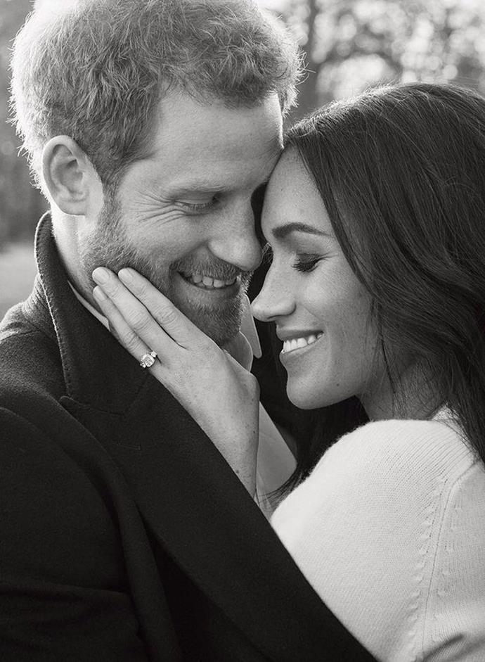 "**December 2017: Meghan Markle and Prince Harry release their engagement portraits**<br><br>  At the time, Harry and Meghan's engagement portrait photographer spoke about the former actress' decision to wear such a daring dress.<br><br>  ""To be honest, we tried on a couple of different things and that was just one that she felt comfortable in, so we weren't really thinking, 'Is it nude?' or anything. We just thought, 'Feel comfortable and let's make some nice pictures,'"" he recalled."