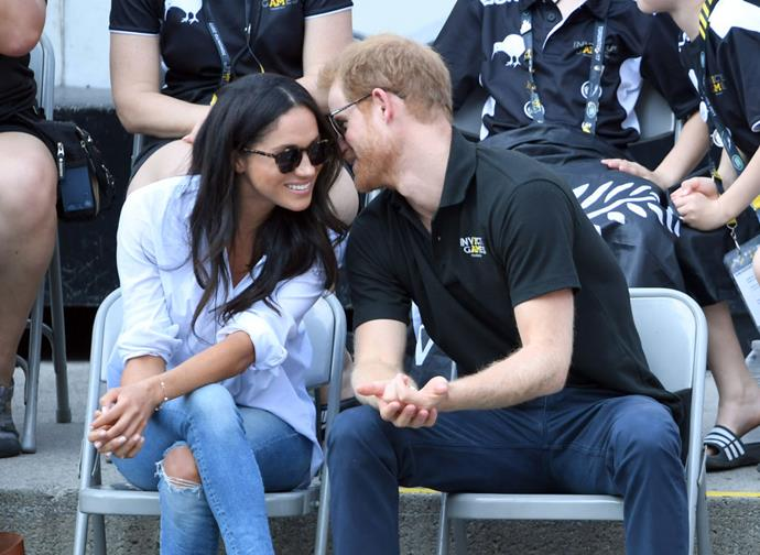 **September 2017: Meghan Markle and Prince Harry attend the Invictus Games In Toronto**<br><br>  Two days later, however, they were photographed together in the stands at a wheelchair tennis match.