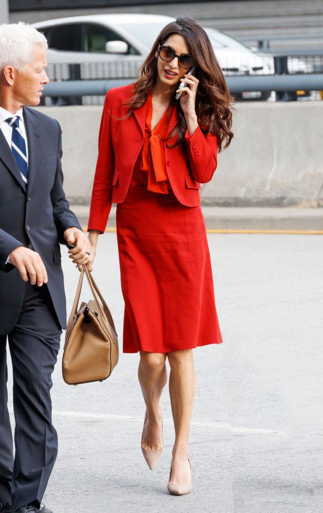 """**Amal Clooney** <br><br> With a globe-trotting career as an international law and human rights barrister, we'd be surprised if [Amal Clooney](https://www.harpersbazaar.com.au/fashion/amal-clooney-burberry-19341